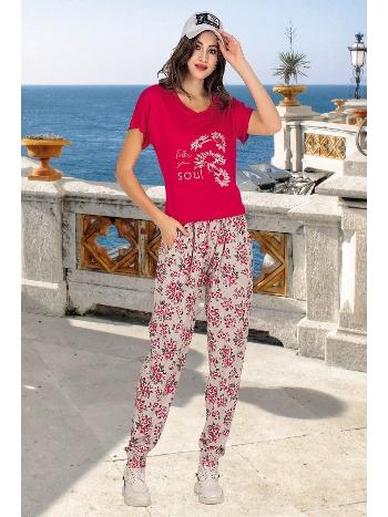 Lady Şalvarlı Fuşya Bayan Pijama Takım 10001