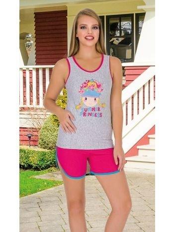 Lady Summer Princess Şortlu Pijama Takım 7481