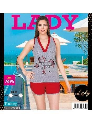 Lady Via Boheme Desenli Şortlu Pijama Takım 7695