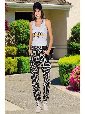 Lady Zebra Desen Bayan Şalvarlı Pijama Takım 10034