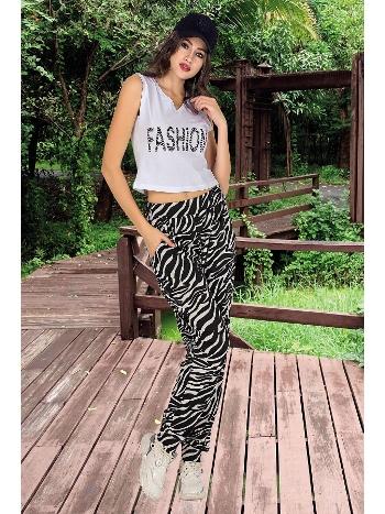 Lady Zebra Desenli Şalvarlı Bayan Pijama Takım 10003
