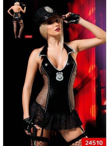 Lame Dantel Etekli Polis Kıyafeti Erotica 24510