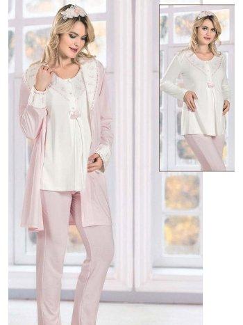 Lohusa Hamile 3lü Pijama Takım FLZ 31-342