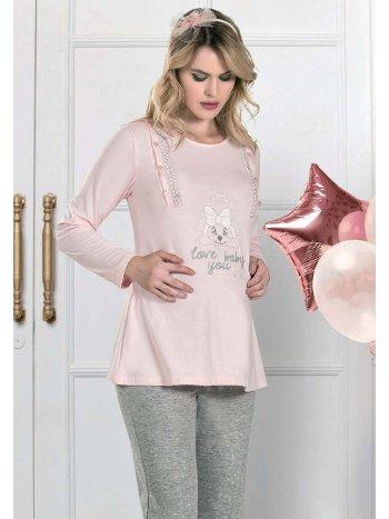 Love Baby You Lohusa Hamile Pijama Takım FLZ 24-332