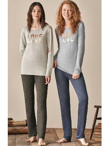 Love Pantolon Pijama Takım Takımı Feyza 3933