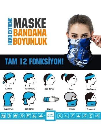 Maske Bandana Boyunluk: Head Extreme 12 Fonksiyon Red