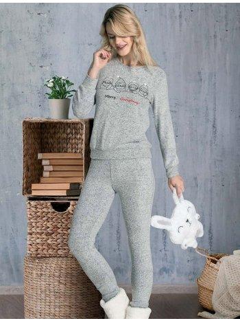 Merry Christmas Pijama Takımı Kışlık Dowry 09-868