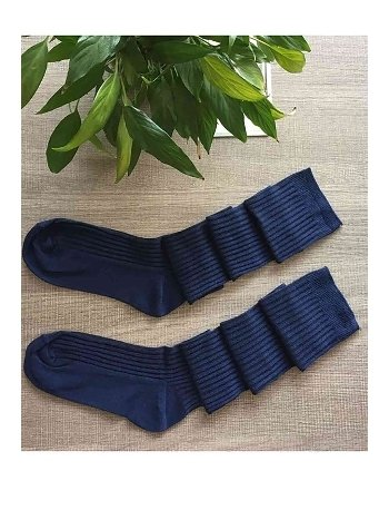 Merry See Parfümlü Örgü Diz Üstü Çorap Lacivert
