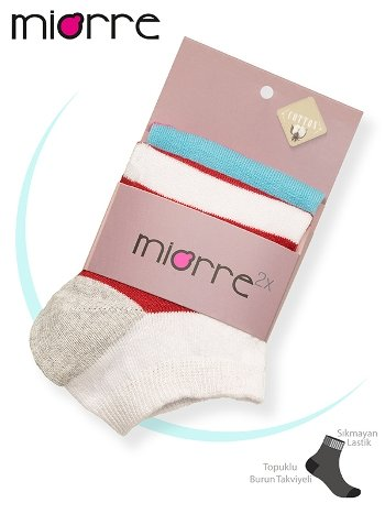 Miorre 2'li Pamuklu Bayan Çorabı