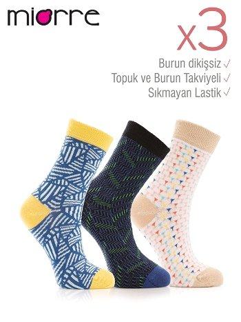 Miorre 3lü Bayan Soket Çorap