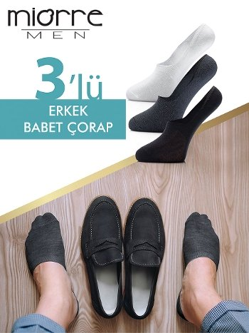 Miorre 3'Lü Erkek Babet Çorabı