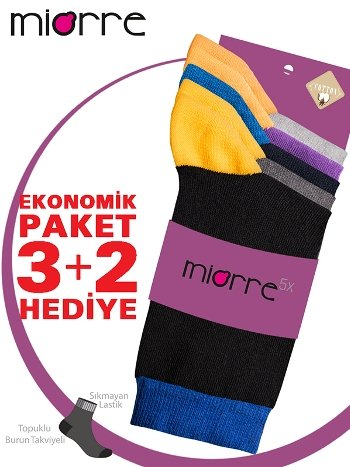 Miorre 5 'li Pamuklu Bayan Çorabı