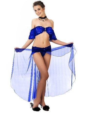 Mite Love Büstiyerli Etek Mavi Fantazi Gecelik ML-9571