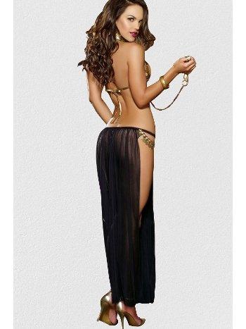 Mite Love Dansöz Kostümü Siyah ML-1493