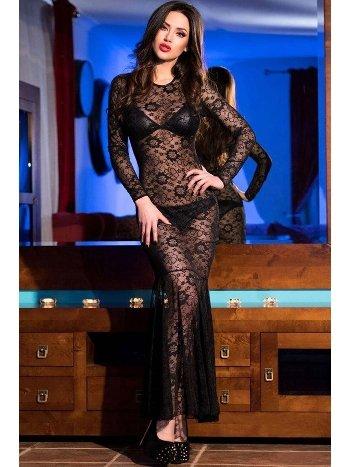 Mite Love Dantelli Lame Fantazi Gecelik Takımı Siyah ML-1510
