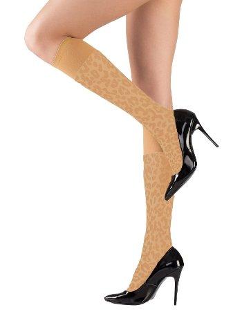Mite Love Dizaltı Çorap Leopar Desenli Sahra ML-9490
