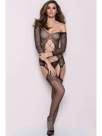 Mite Love File Jartiyerli Vücut Çorabı Fantazi Giyim