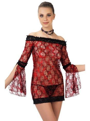 Mite Love Gecelik Lez Dantel Fuşya Fantazi Giyim ML-9492