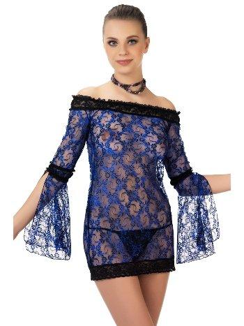 Mite Love Gecelik Lez Dantel Mavi Fantazi Giyim ML-9493