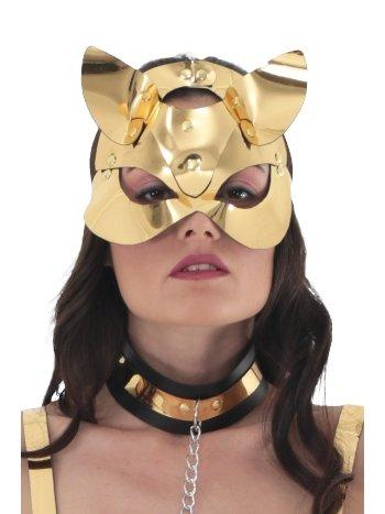 Mite Love Gold Deri Kedi Kadın Fantazi Maske ML-5813