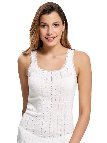 Mite Love Kadın Atlet Beyaz iç Giyim ML-5837