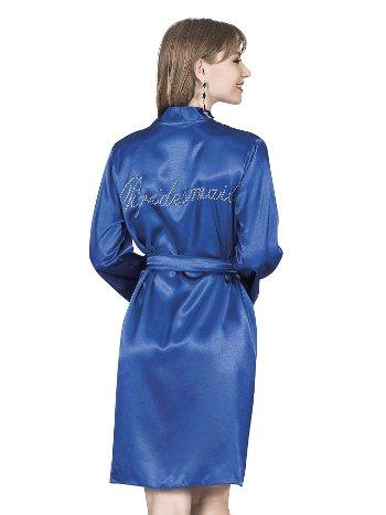 Mite Love Kadın Sabahlık Mavi Saten ML-9765