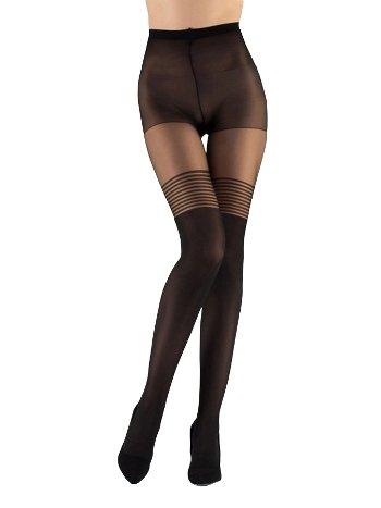 Mite Love Külotlu Çorap Düz Çizgi Desen ML-5818