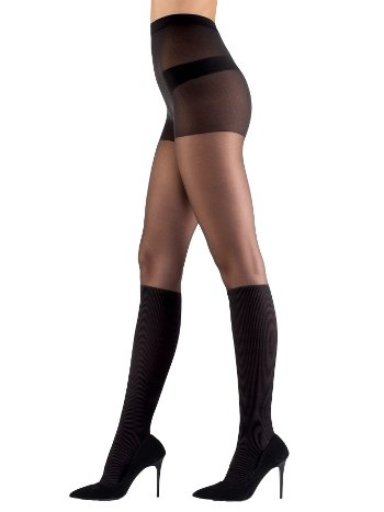 Mite Love Külotlu Çorap Fantazi Siyah ML-9707