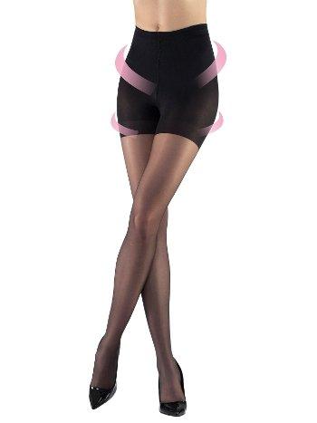 Mite Love Külotlu Çorap İnceltici 15 Denye Siyah ML-9703