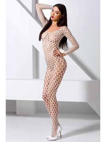 Mite Love Seksi Vücut Çorabı Geniş Fileli Beyaz Fantazi Giyim