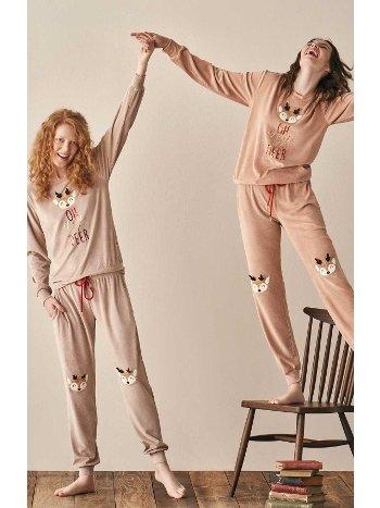 Oh My Dear Bayan Eşofman Pijama Takımı Feyza 3948