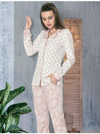 Önden Düğmeli Pijama Takımı Dowry 09-859