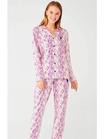 Önü Düğmeli Pijama Takımı US Polo 16405