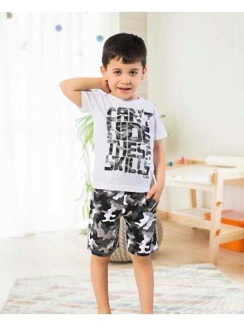Öztaş 3331-A Erkek Çocuk Kamuflaj Şortlu Takım