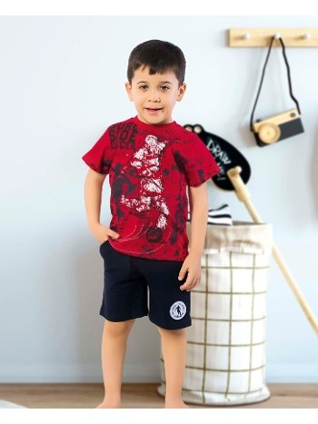 Öztaş 3332-A Erkek Çocuk Yarım kol Şortlu Takım