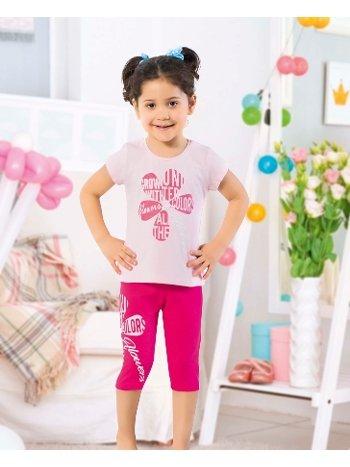 Öztaş 4331-A Kız Çocuk Yarımkol Taytlı Takım