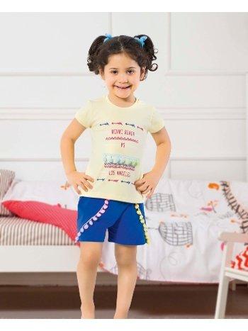 Öztaş 4333-A Kız Çocuk Ponponlu Şortlu Takım