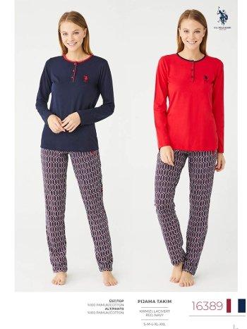 Pamuklu Pijama Takım US Polo 16389