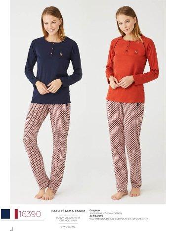 Pamuklu Pijama Takım US Polo 16390