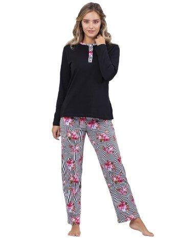 Patlı Pijama Takım Çift Kaplan 7700