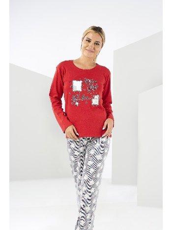 Penye Kışlık Uzun Kollu Pijama Takımı Estiva 20304