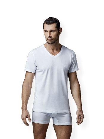 Penye V Yaka Kısa Kol 2 Li T-Shirt Dagi D1040