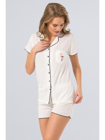 Pijama Şort Takım Türen 3272/KREM