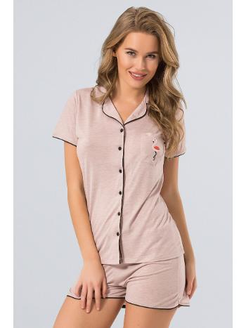 Pijama Şort Takım Türen 3272/PUDRA