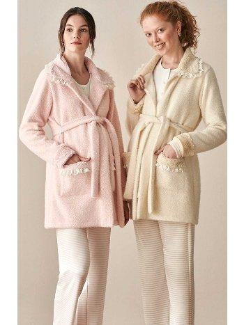 Polar Sabahlıklı 3lü Hamile Pijama Takımı Feyza 3926