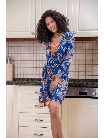 Sabahlıklı 2'li Viskon Kadın Gecelik Pijama Takımı Yeni İnci BPJ1586