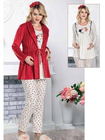 Sabahlıklı Hamile Lohusa Pijama Takım FLZ 31-364