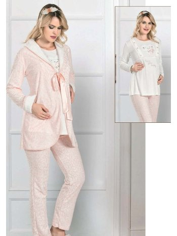Sabahlıklı Lohusa Hamile Pijama Takım FLZ 31-368