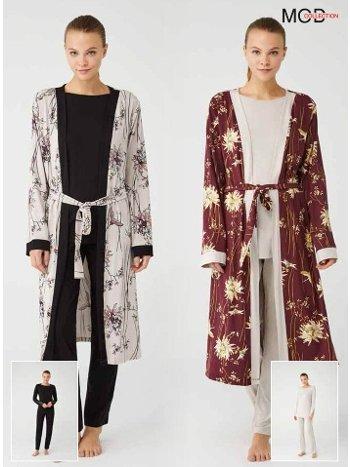Sabahlıklı Pijama Takımı Mod Collection 3393