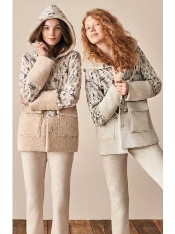 Selanik Polar Sabahlıklı 3lü Pijama Takımı Feyza 3921